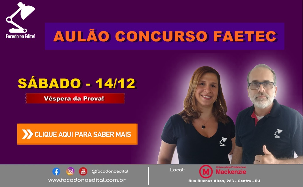 AULÃO FAETEC
