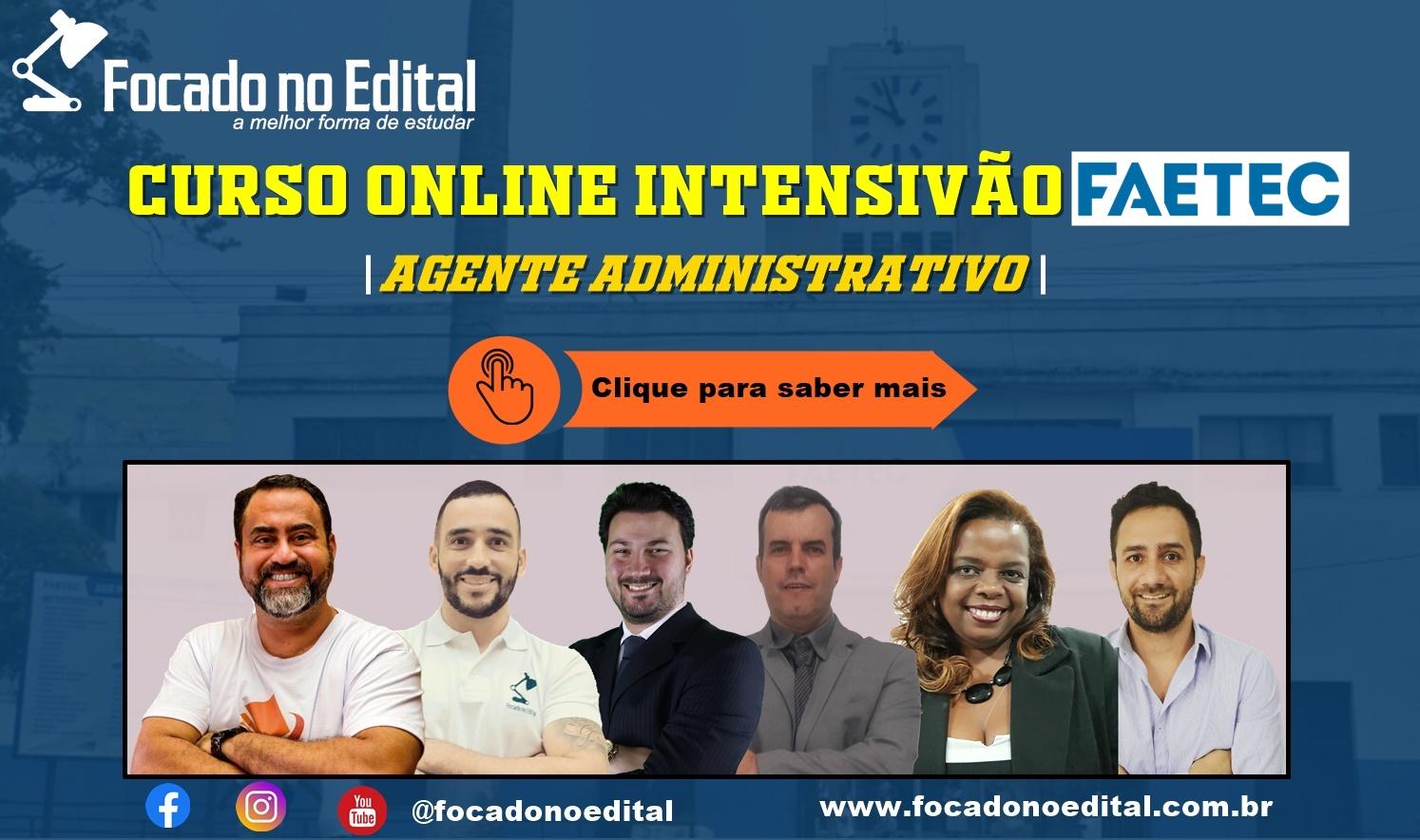 Curso Online Faetec